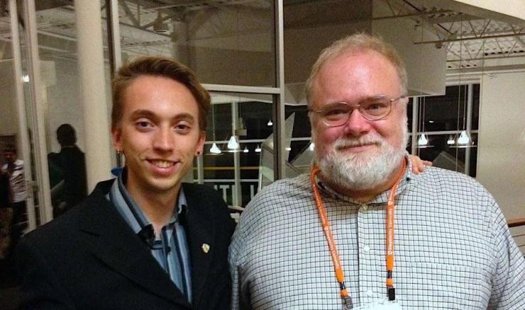 Federico Pistono e Brad Templeton al computer history museum in Silicon Valley nel 2012