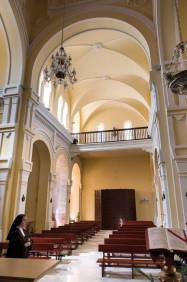 Vista del coro de la iglesia