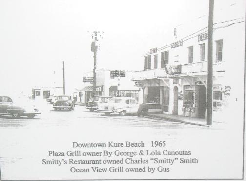 Downtown Kure Beach 1965