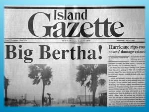 Island Gazette - Hurricane Bertha