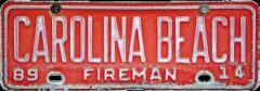 Carolina Beach Fireman Plate