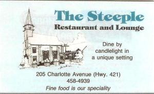 Steeple Restaurant 1987 ad