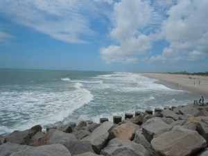 Fort Fisher Rocks and Beach