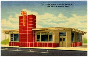 Bus Station Carolina Beach - opened July 30, 1948