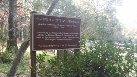 Newton Cemetery - National Register of Historic Places Sign - 1997