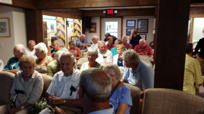 Front row: Margaret and Earl Page - Aug. 17, 2015