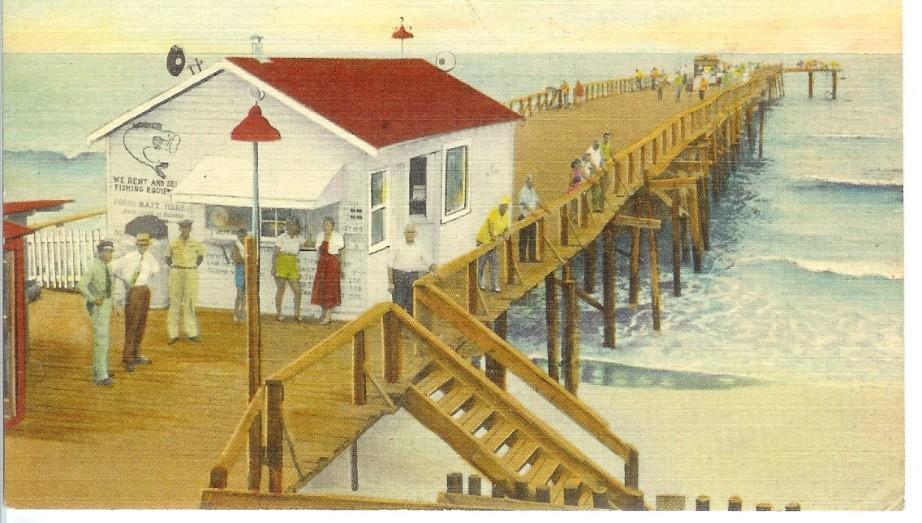 Kure Pier Postcard