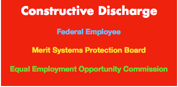 employees claim of constructive discharge This type of claim is referred to as constructive discharge, meaning that the employer either created or allowed an environment that was so intolerable the employee was effectively forced to quit.