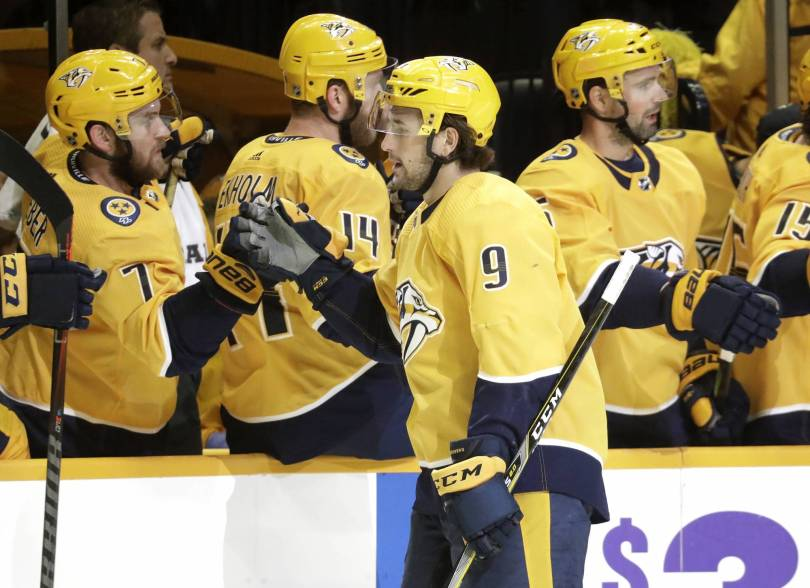 Islanders Predators Hockey 42683 - Forsberg, Arvidsson lead Predators to 5-2 win over Islanders