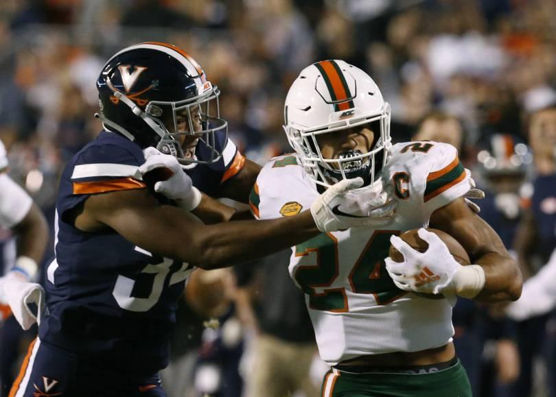 Miami Virginia Football 16176 - Virginia uses defense to beat No. 16 Miami, 16-13