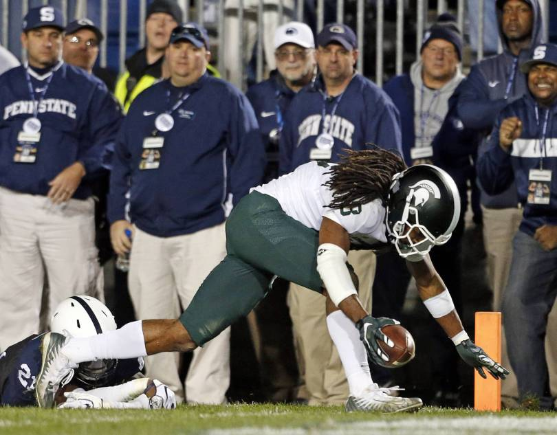 Michigan St Penn St Football 43458 - Lewerke rallies Michigan State over No. 8 Penn State, 21-17
