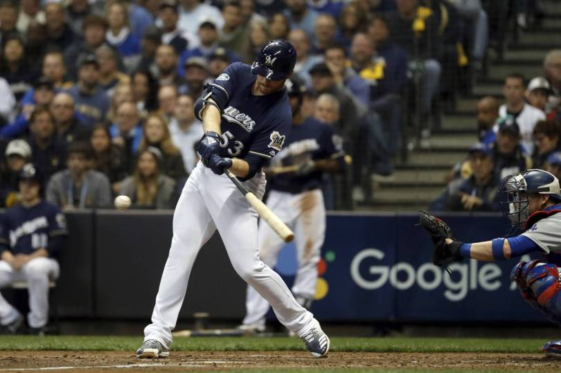 NLCS Dodgers Brewers Baseball 72267 - Brewers relief pitcher Woodruff homers off Kershaw in NLCS