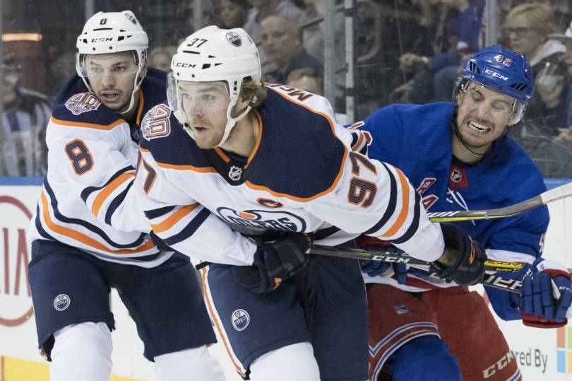 Oilers Rangers Hockey 84288 - McDavid scores on power play, Oilers edge Rangers 2-1
