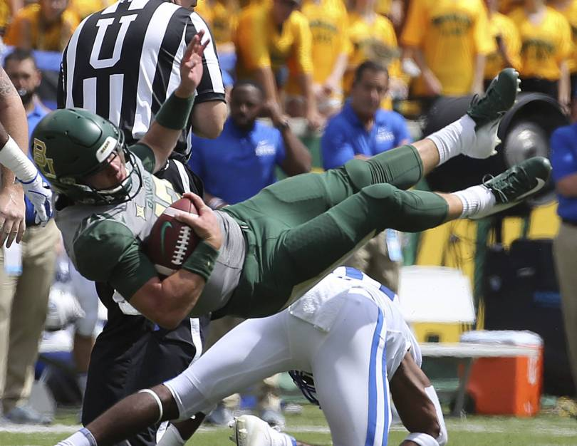 APTOPIX Duke Baylor Football 59511 - Harris 3 TDs in first start as Duke beats Baylor 40-27