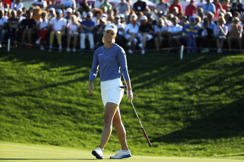 France Golf Evian Championship 44461 - Olson takes 2-shot lead after 3rd round of Evian major