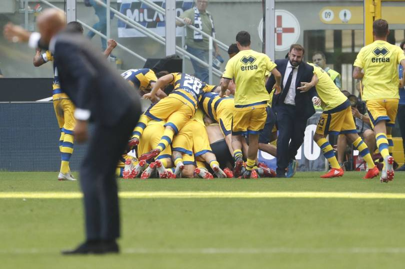 Italy Soccer Serie A 42933 - Parma wins 1-0 at Inter for first win back in Serie A
