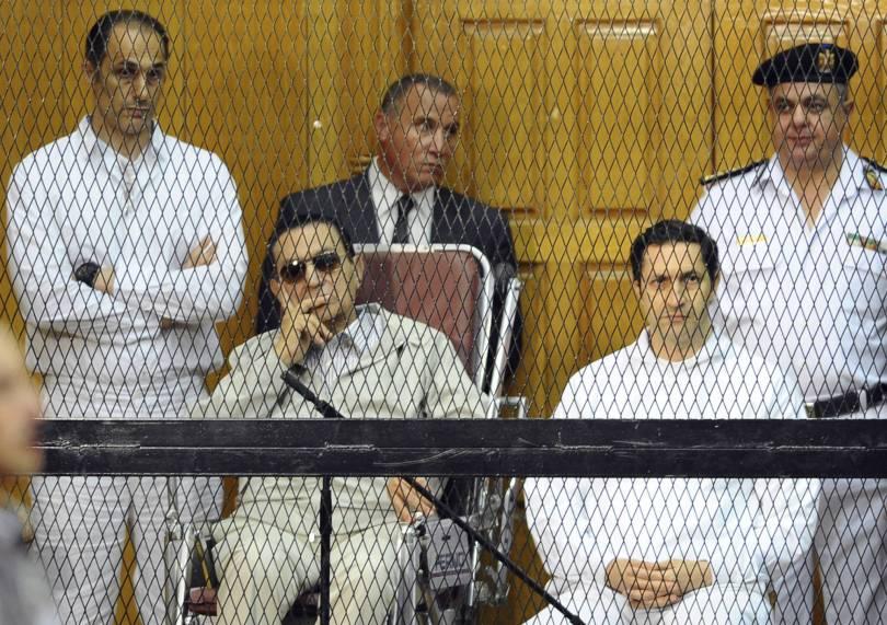 Mideast Egypt 38034 - Egypt court returns ex-president Mubarak's 2 sons to prison