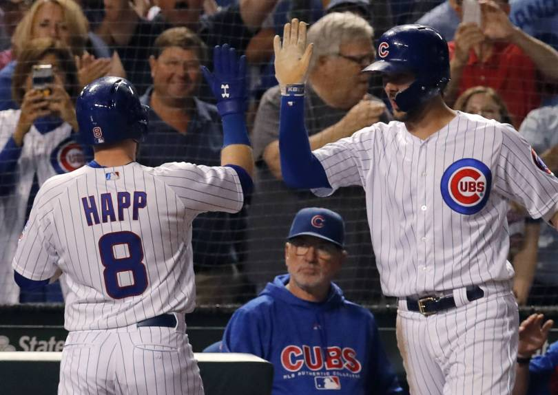 Reds Cubs Baseball 87662 - Happ lifts Cubs over Reds 3-2