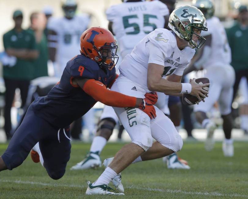 South Florida Illinois Football 88958 - Barnett rallies South Florida to 25-19 win over Illinois