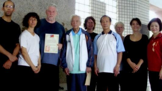 Les maîtres William Nelson, Chou Hon Ping et Wang Chih Shih