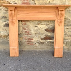 York mantel, fire surround fireplace solid timber, locally made. Top shelf width 1480mm Outer leg width 1345mm Height 1200mm Opening size 905 x 905mm $750