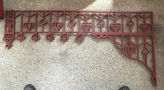 original 1910 verandah lacework set 16 corners plus frieze gritblasted and primed