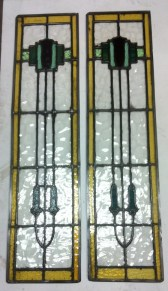 Leadlight window panels x 2 h1045 x w255mm $275 each panel
