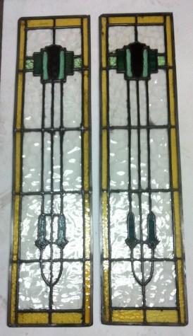 Leadlight window panels x 2 h1045 x w255mm $275 each panel