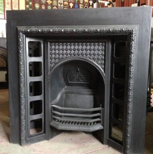 original Victorian fireplace insert, cast iron, smaller frame w965 x h965 $550