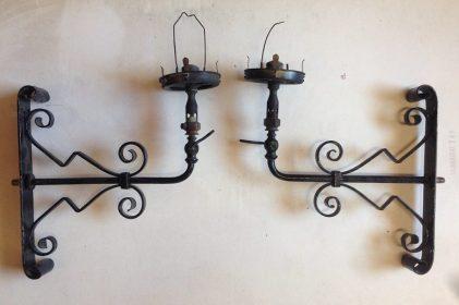 Original gaslights, early Victorian wall brackets $150 each