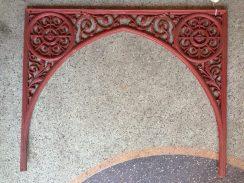 Victorian cast iron lacework, double corner, single piece w890 x h715 $145