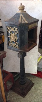 Cast iron letterbox door needs small repair, h1110 x 320 x 360mm $200 as is