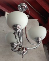 Art Deco style three arm pendant light approx. 350mm diameter $245