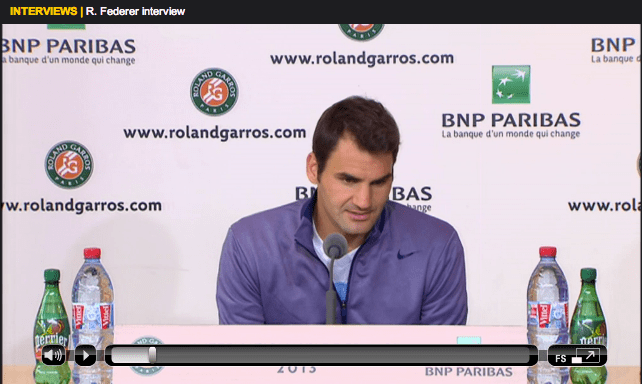 Federer Roland Garros 2013 first round press conference