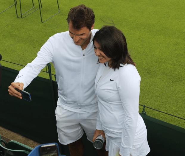 Beatriz meets Roger Federer 1