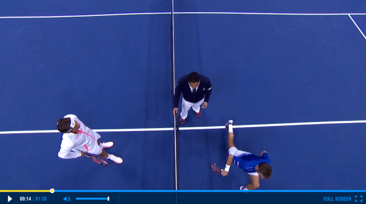Federer 2015 US Open Semifinals Highlights