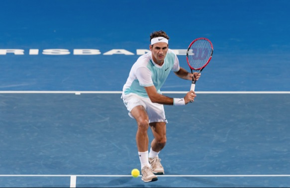 Roger Federer faces Dominic Thiem at the 2016 Brisbane International