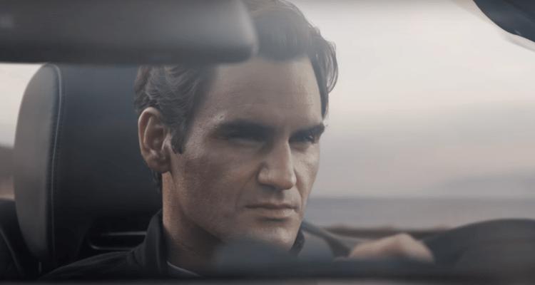 Roger Federer Mercedes Benz SL Class 2017