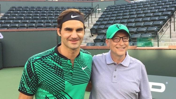 Roger Federer Bill Gates