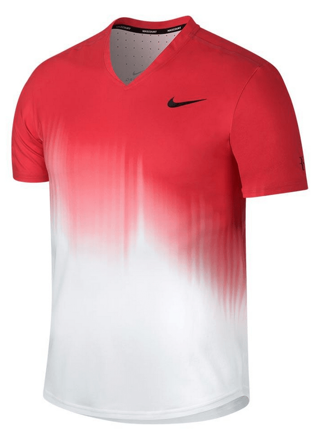 Roger Federer 2017 US Open Nike Outfit - NikeCourt RF US Open Shirt Day Session