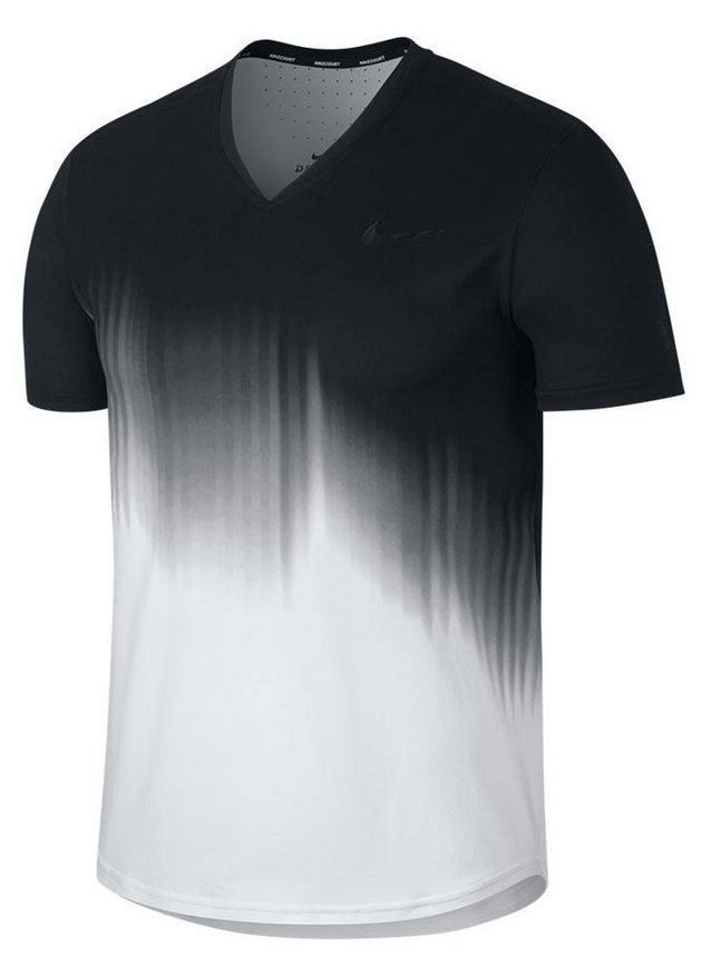 Roger Federer 2017 US Open Nike Outfit - NikeCourt RF US Open Shirt Night Session