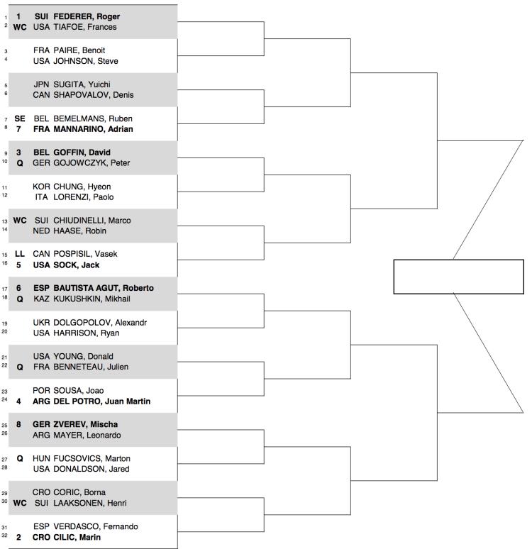 2017 Swiss Indoors Draw