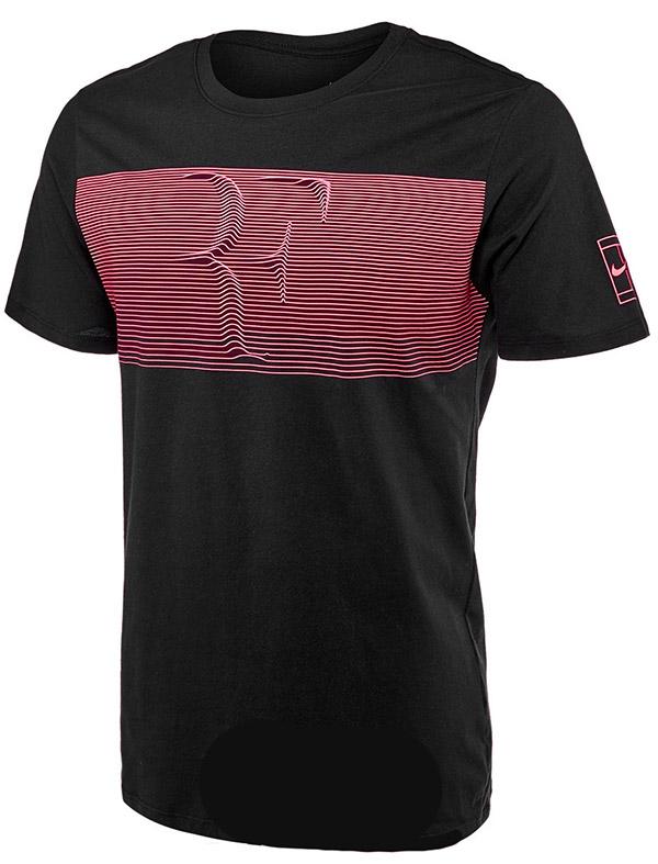 Roger Federer 2018 Australian Open Nike RF Shirt Black - Roger Federer 2018 Australian Open Nike Outfit