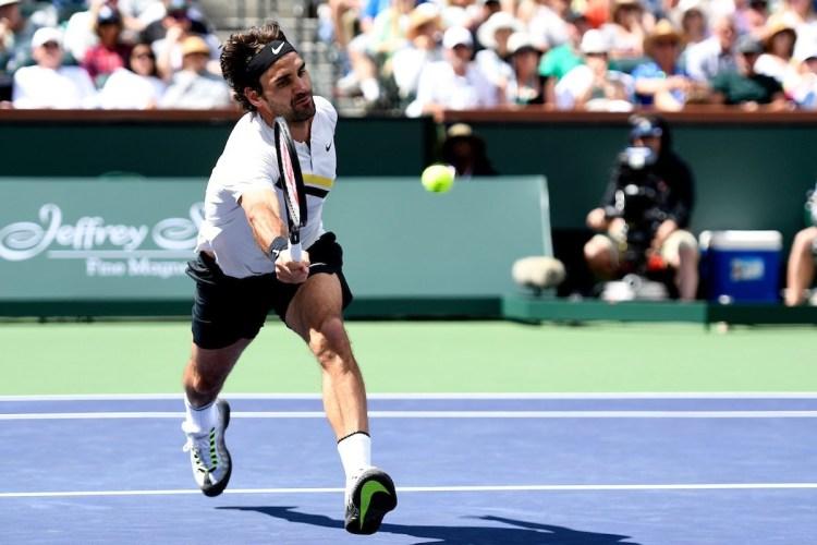 Roger Federer 2018 BNP Paribas Open (Indian Wells BNPPO18) - Federer Perseveres Past Coric into Eighth BNP Paribas Open Final