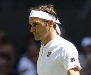 Federer Wins Wimbledon First Round Match, Wearing Uniqlo
