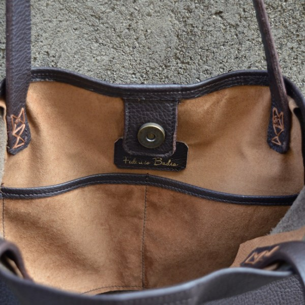 Dark Brown Orvieto Tote, Pocket