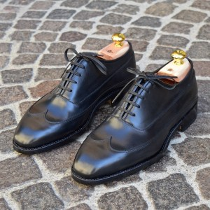 Oxford Trieste in Black Full-Grain Calf