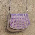 Borsa Unità, gray and purple
