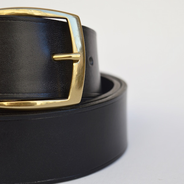 Black Casual Belt, 4cm