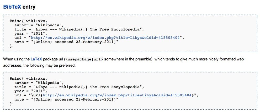 Come citare i siti web in BibTeX (2/3)